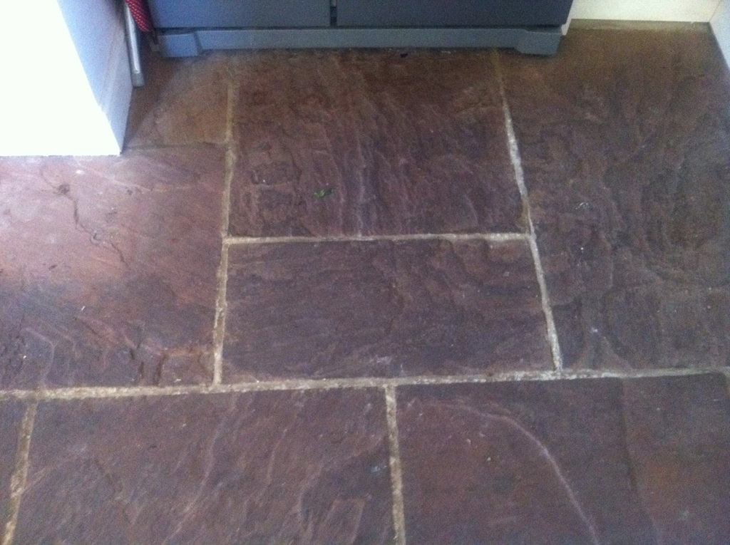 Indian Riven Sandstone Before Cleaning