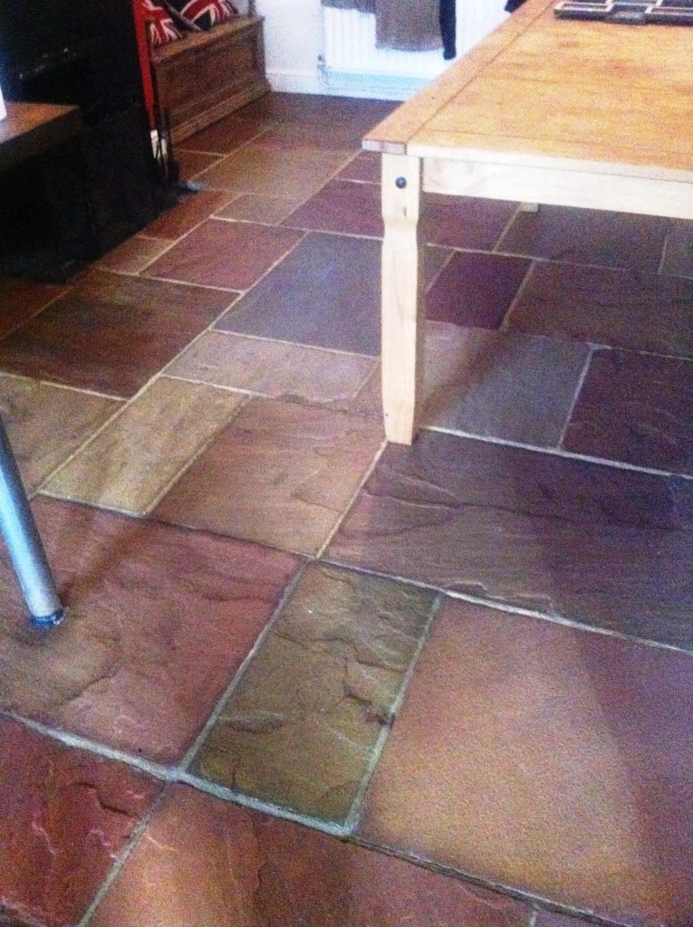 Indian Riven Sandstone After Cleaning and Sealing by Tile Doctor West Yorkshire