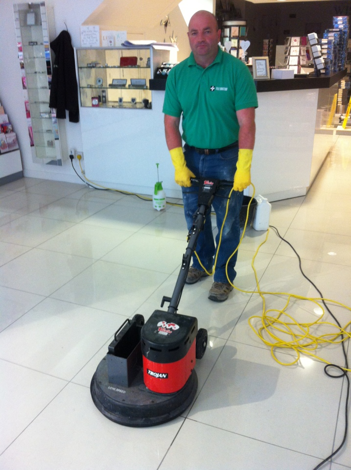 Buffing Polished Porcelain After Anti-Slip Application