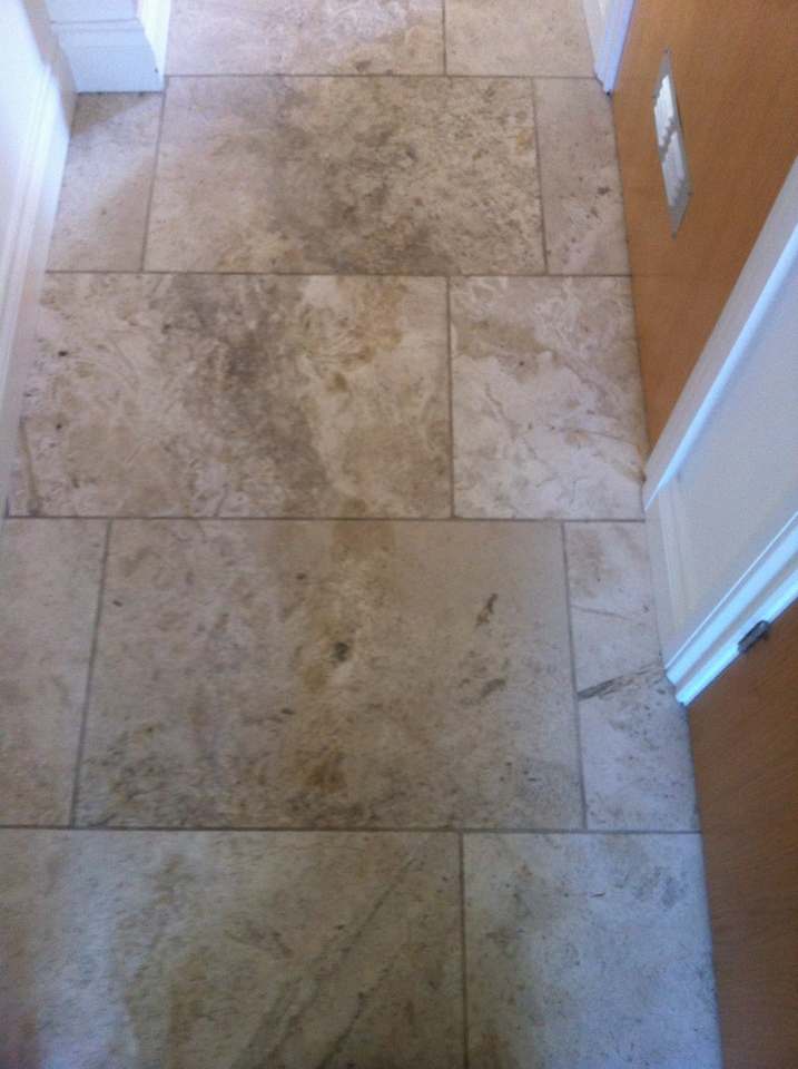 Honed Travertine in need of a deep clean