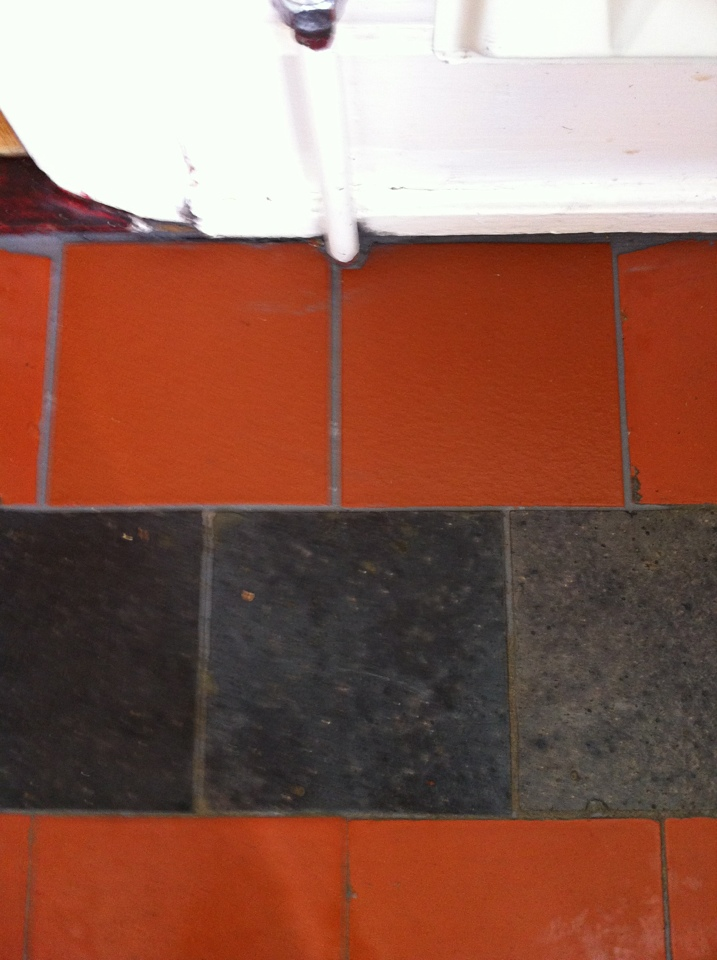 Old Quarry Tiles Otley Repaired cleaned and resealed