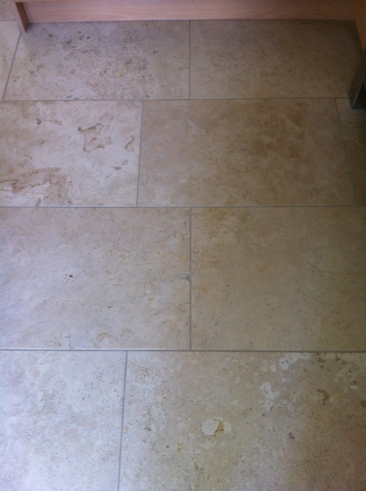Travertine cleaned and sealed as good as new