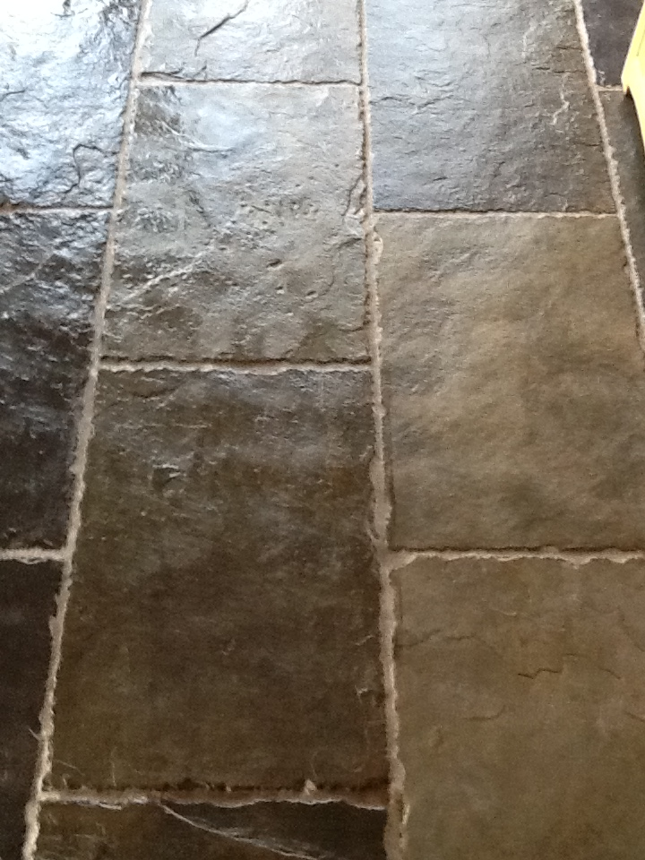 Wetherby Slate Floor Tiles Cleaned and Sealed