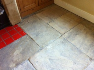 Stone Floor after carpet removal in Ilkley