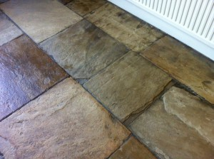 Yorkshire Stone Floor in Ilkley Cleaned and Sealed
