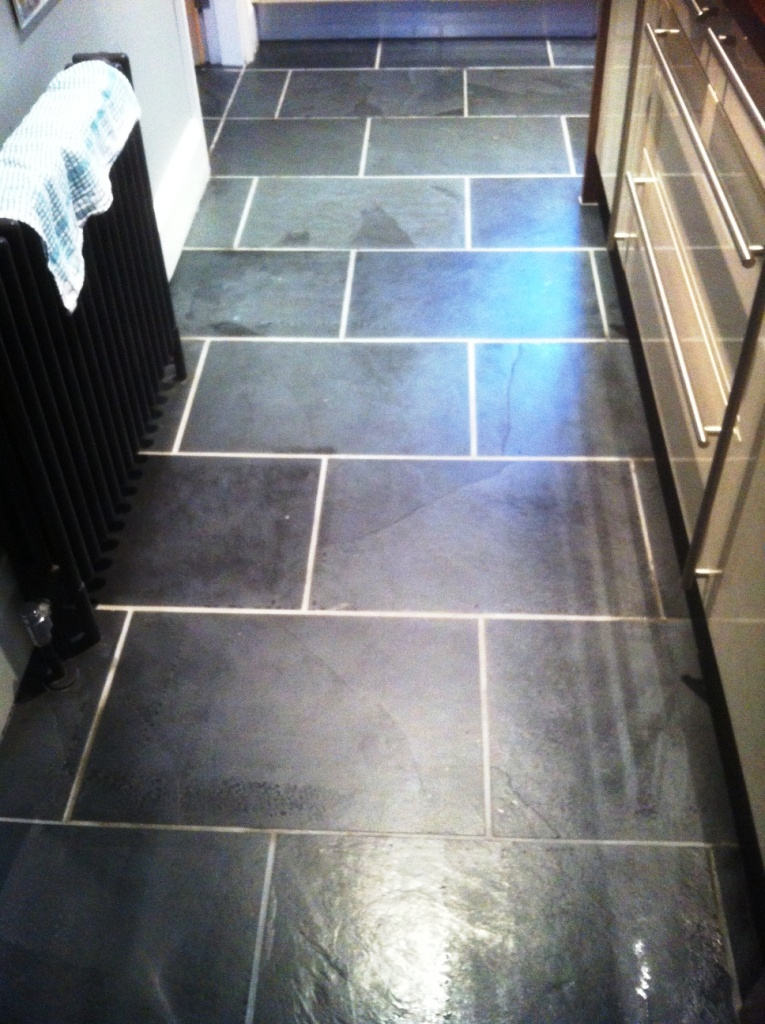 Black Slate floor Ilkley After