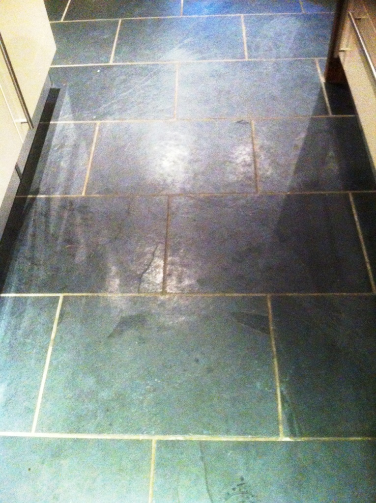 Black Slate floor Ilkley before