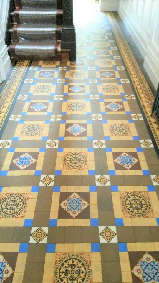 Victorian Tiled Hallway After Cleaning Hebden Bridge