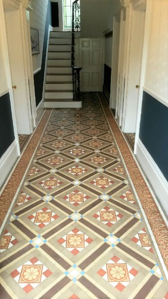 Victorian Tiled Hallway After Renovation Cleckheaton Kirklees