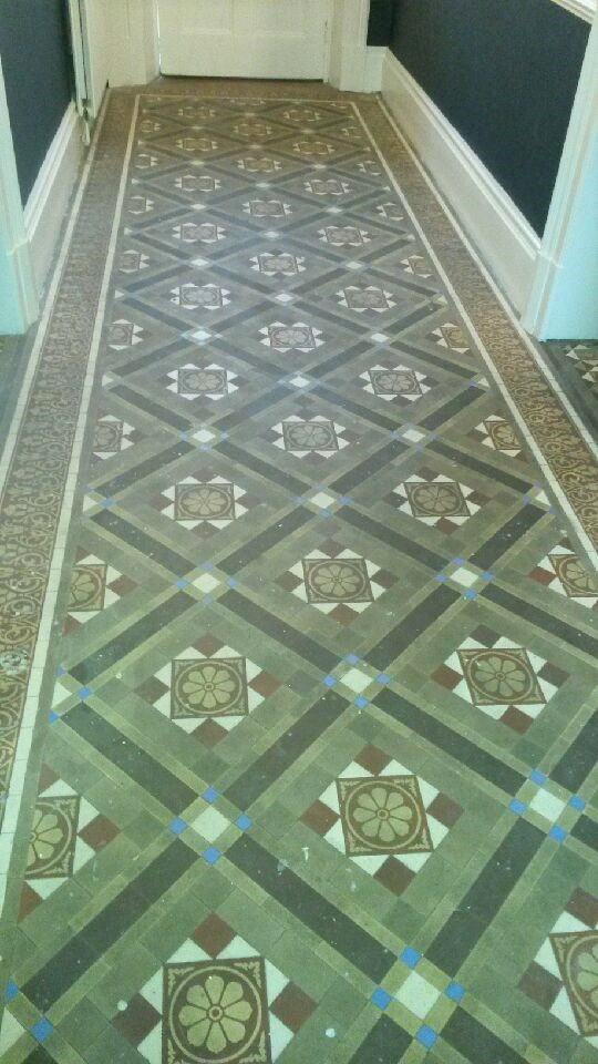 Victorian Tiled Hallway Before Renovation Cleckheaton Kirklees