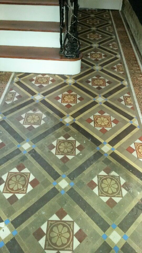 Victorian Tiled Hallway During Renovation Cleckheaton Kirklees