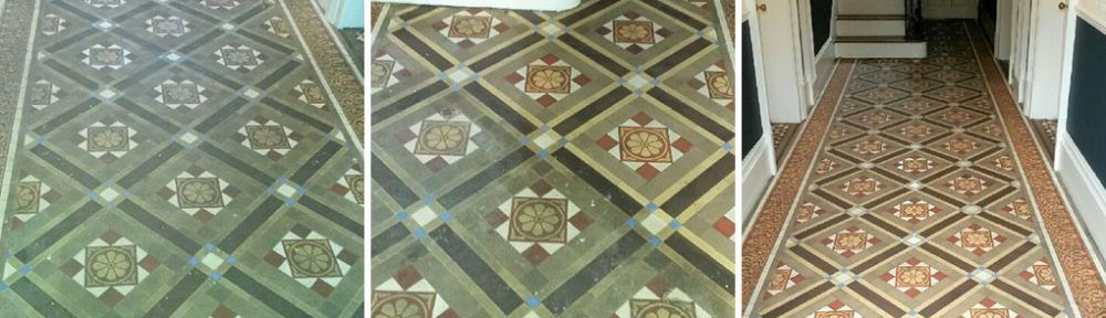 Victorian Tiled Hallway Floor Renovation Cleckheaton Kirklees