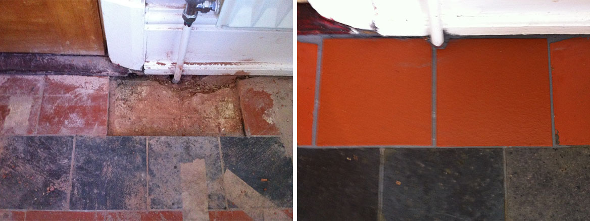 Quarry Tile Floor Restoration in Otley